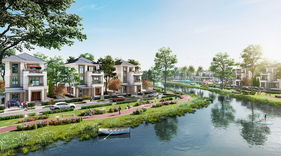 Bản sắc thượng lưu tại Biệt thự sinh thái ven sông Aqua City