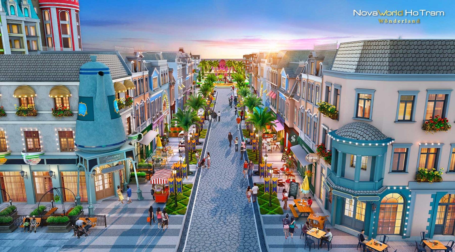 Biệt thự tứ lập Wonderland Novaworld Ho Tram thu hút khách hàng