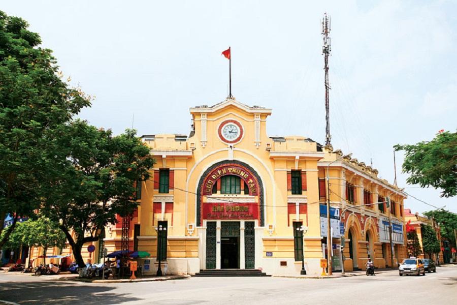 Bưu điện Trung tâm Hải Phòng: Biểu tượng kiến trúc cổ điển và hiện đại