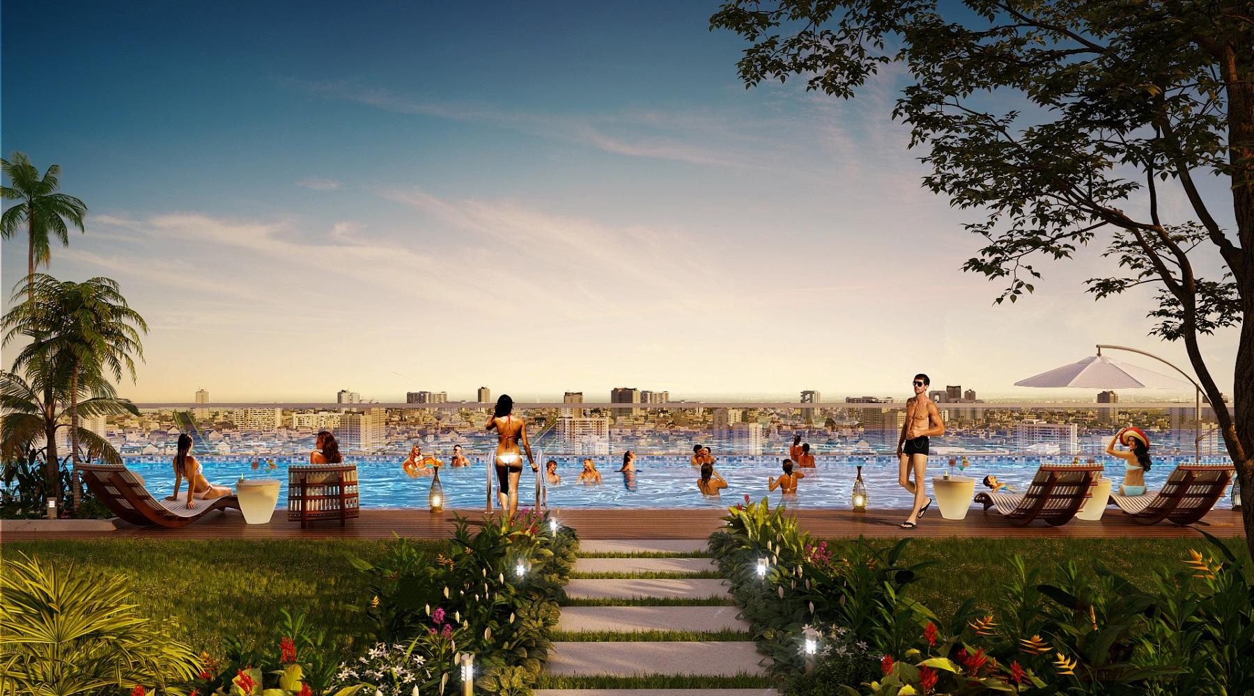 Lần đầu tiên có Hồ bơi điện phân Đồng tại dự án cao cấp Quận 6