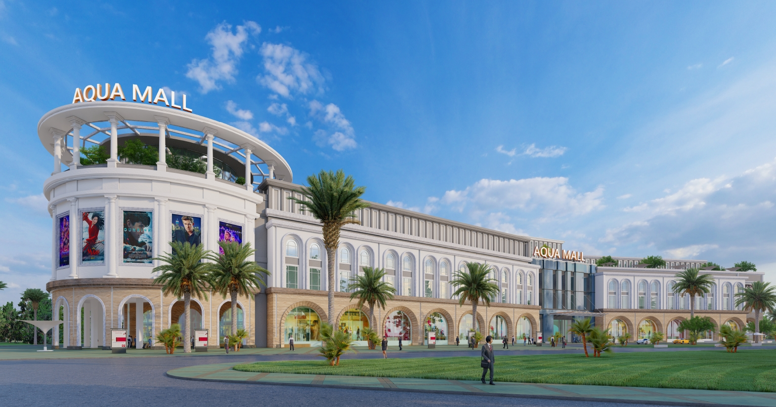 Aqua Central Mall rộng 10 hecta