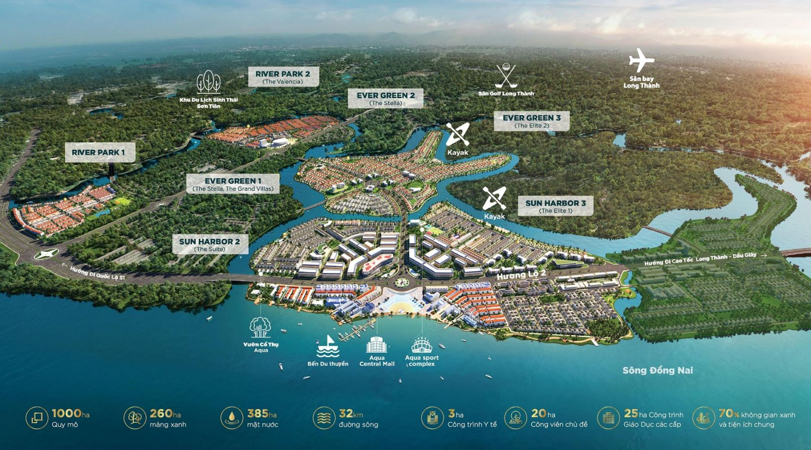 phối cảnh dự án aqua city mới nhất