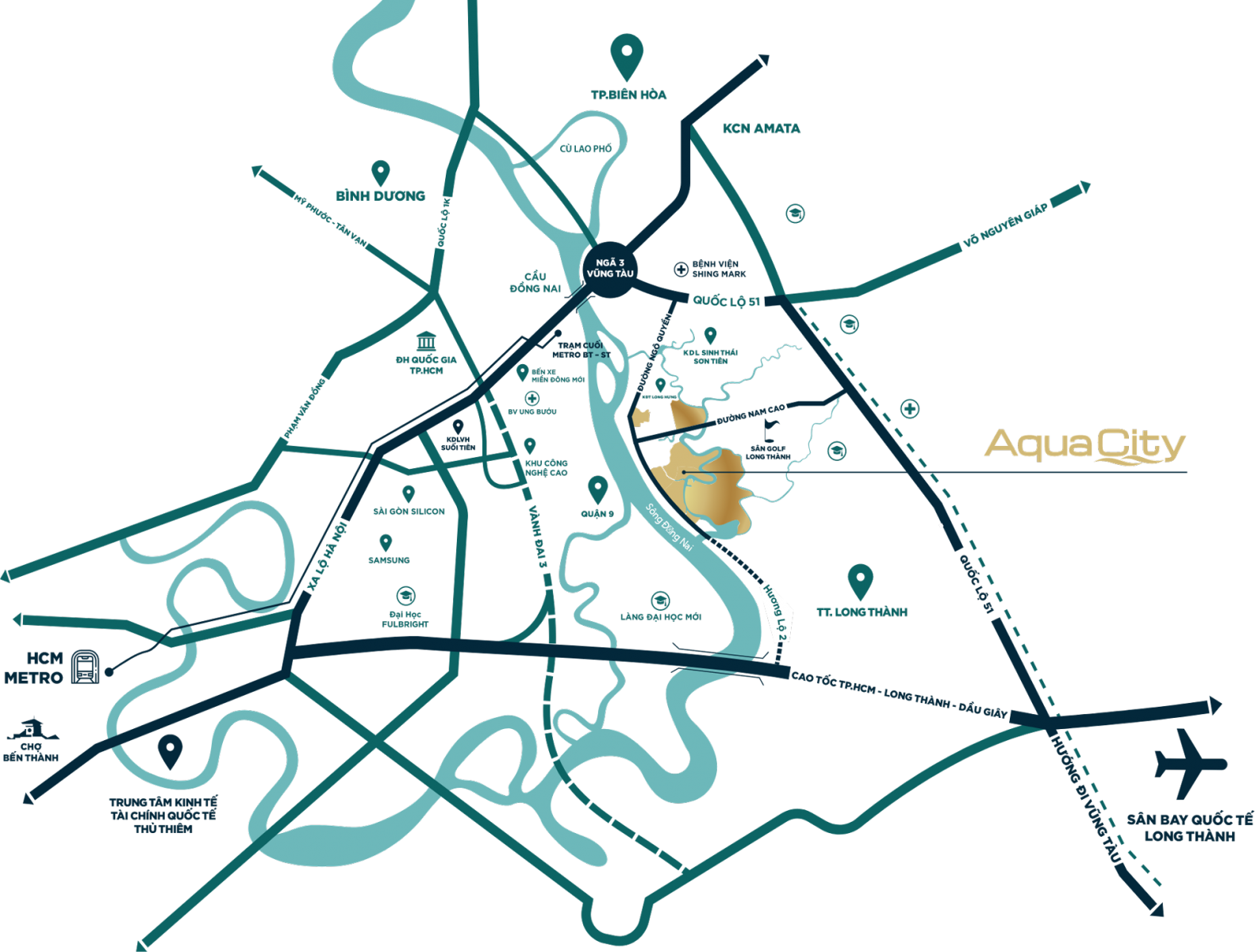 Bản đồ dự án aqua city