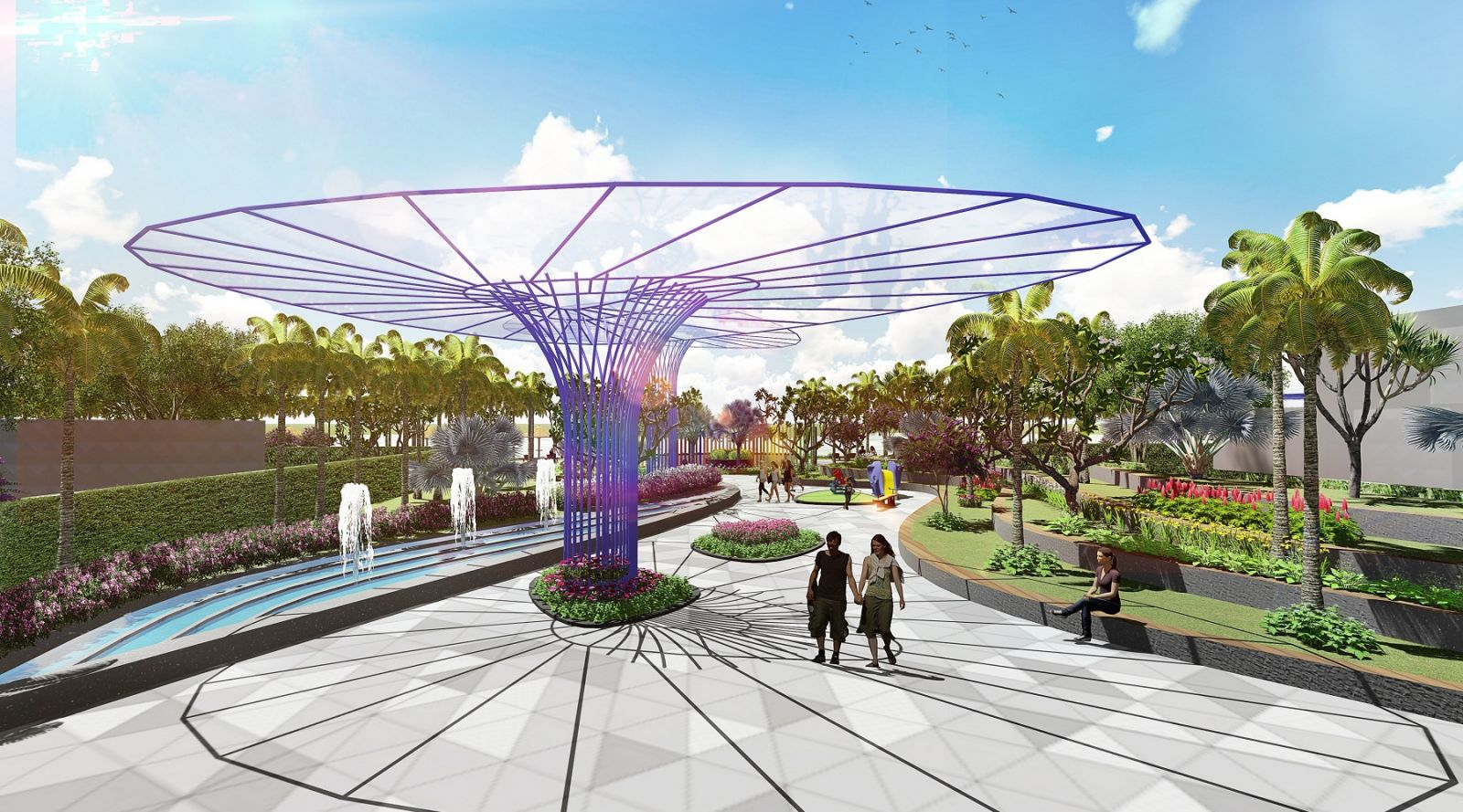 Công viên tại Aria Vũng Tàu Hotel & Resort