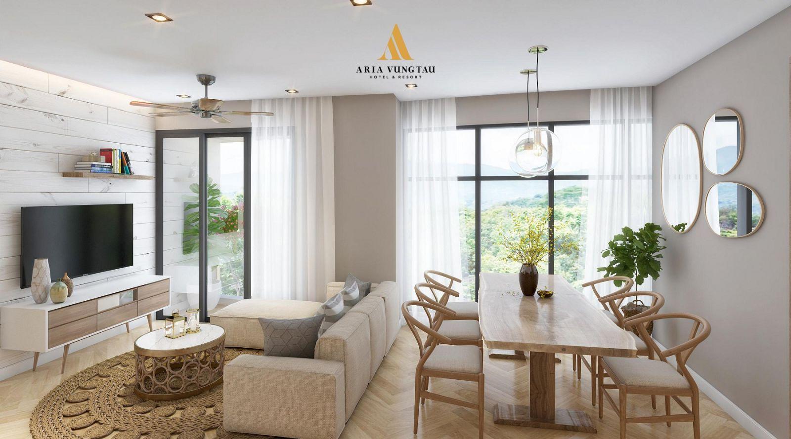 Phòng khách Aria Vũng Tàu Hotel & Resort