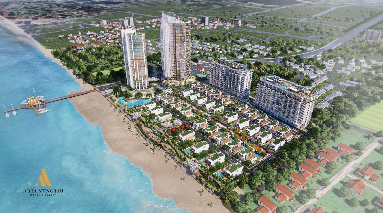Toàn cảnh khu phức hợp nghỉ dưỡng dự án Aria Vũng Tàu Hotel & Resort