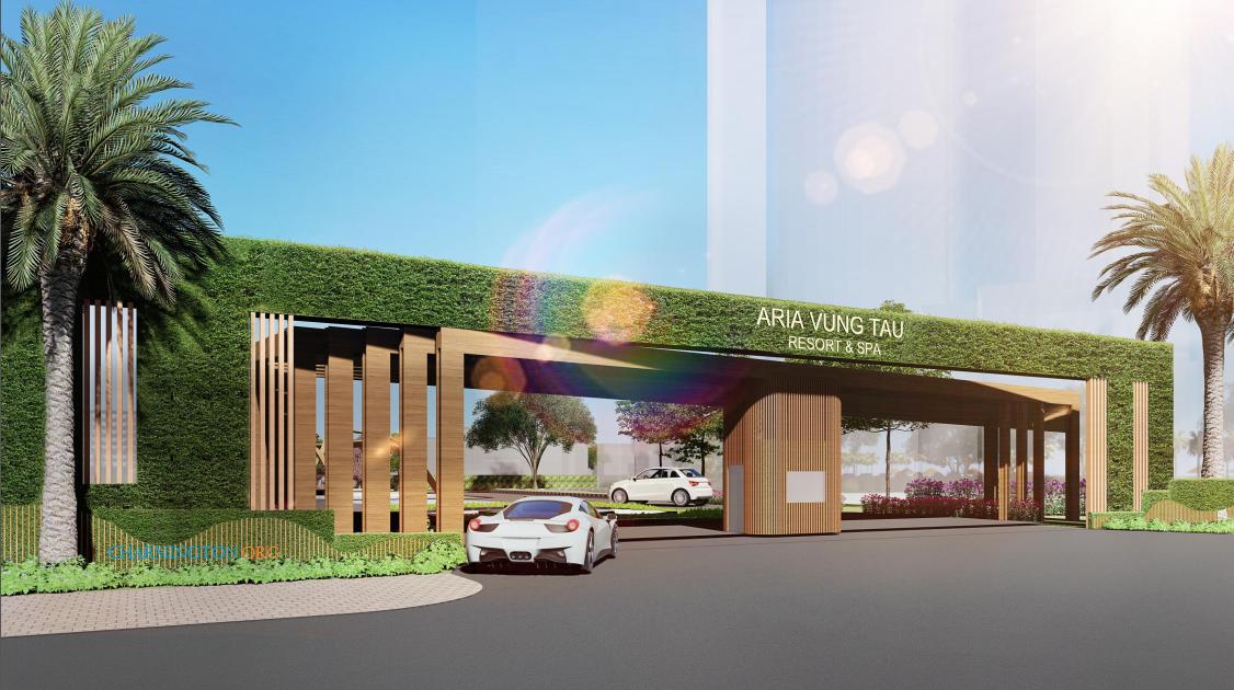 Cổng chào dự án Aria Vũng Tàu Hotel & Resort