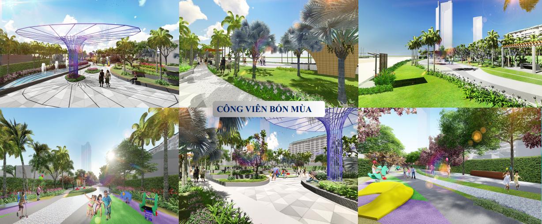 công viên 4 mùa dự án Aria Vũng Tàu Hotel & Resort