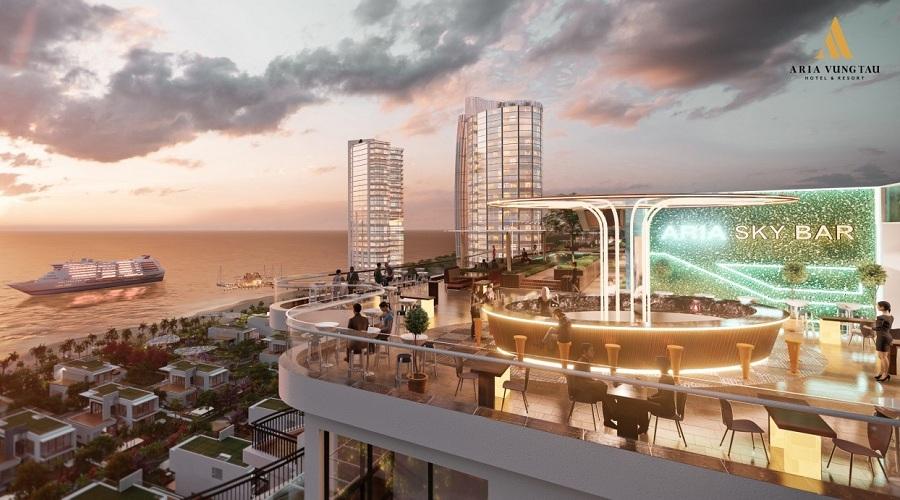 Rooftop Bar dự án Aria Vũng Tàu Hotel & Resort
