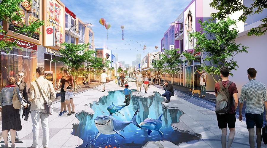 Khu Shophouse thực sự là thiên đường mua sắm, checkin với khu đường 3D lần đầu tiên có mặt tại Vũng Tàu.