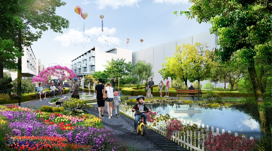 Khu công viên nước xanh mát tại Lic City, Chủ đầu tư đã bỏ ra khá nhiều tâm huyết để kiến tạo nên cuộc sống viên mãn - đẳng cấp nhất cho cư dân tại đây.