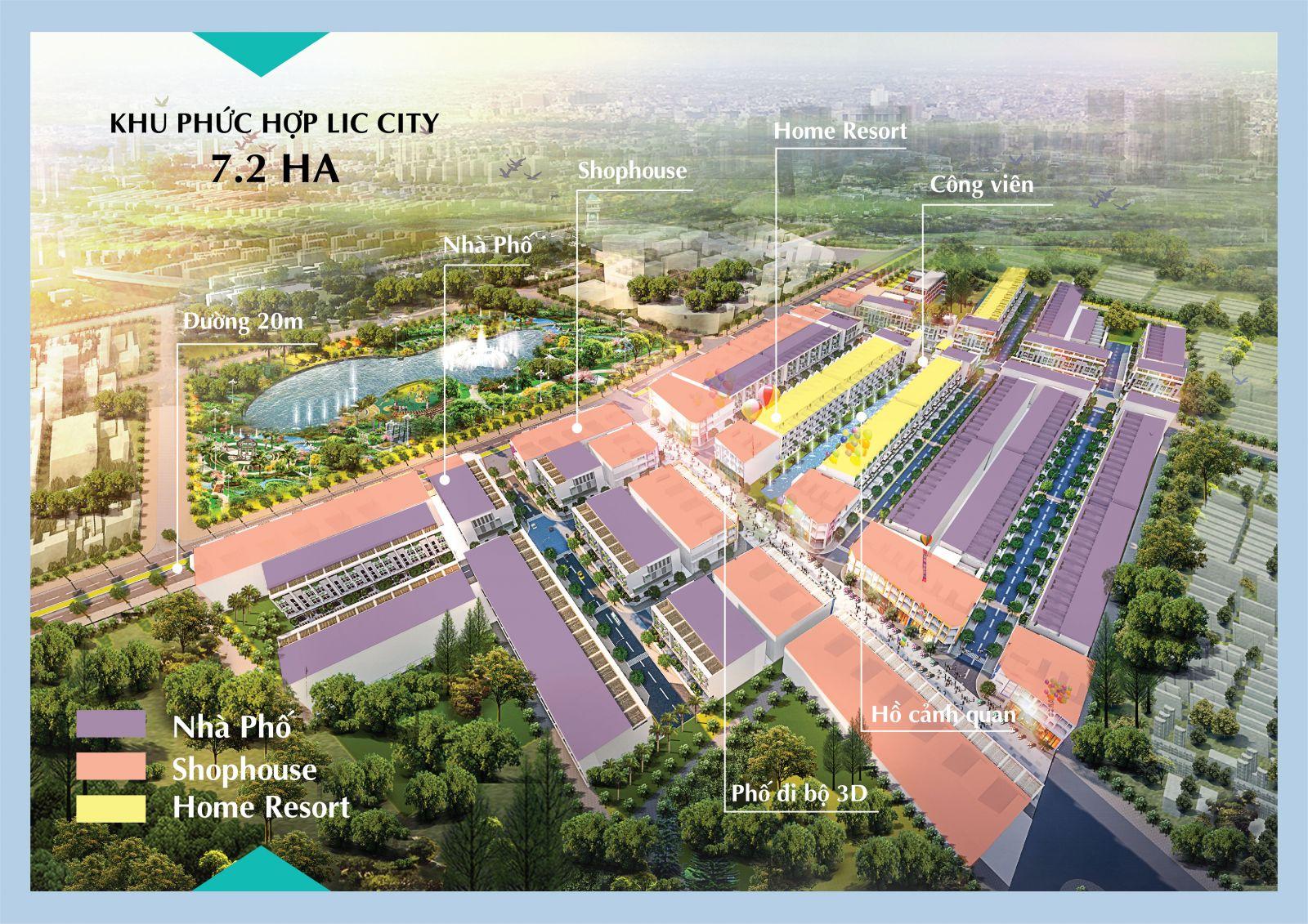 Bản đồ Phân Khu dự án Lic City | Nguồn: charmington.org