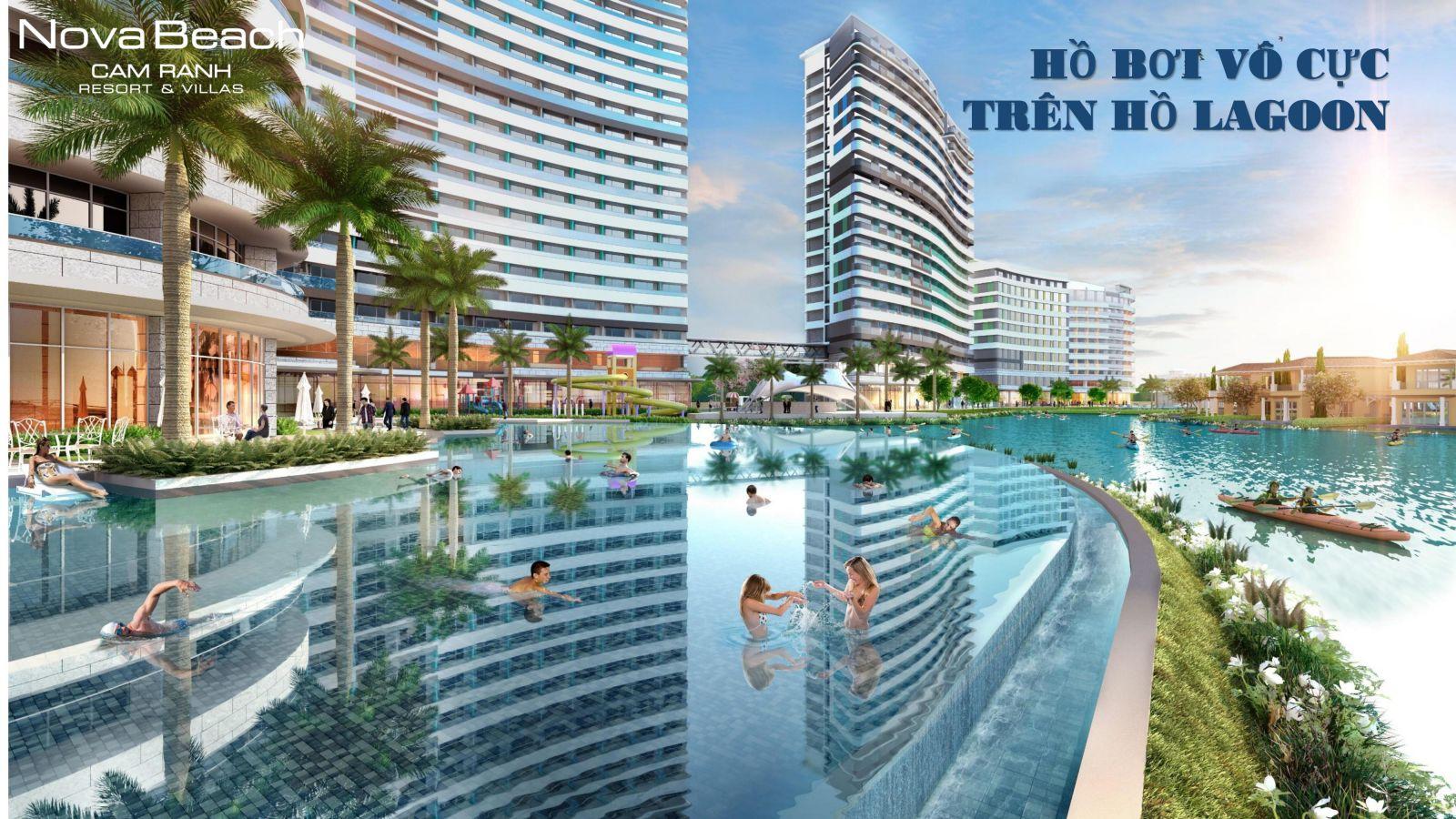 novabeach cam ranh resort and villa tien ho ho boi vô cực