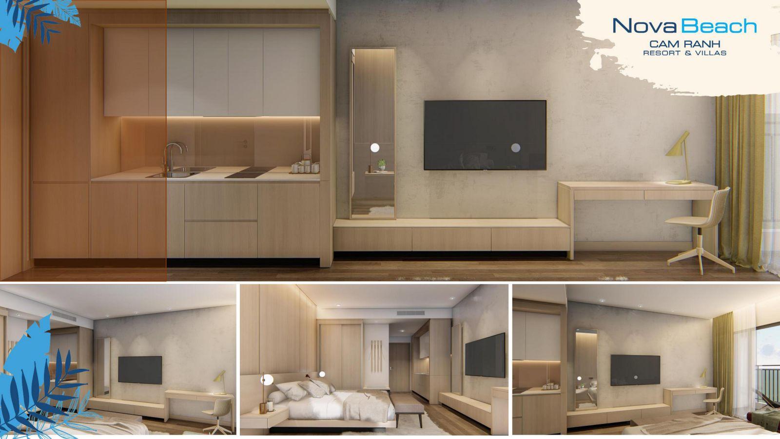 nhà mẫu dự án NovaBeach Cam Ranh Resort and Villas
