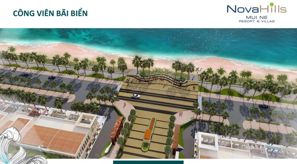 Novahills Mũi Né Resort & Hotels bờ biển dài