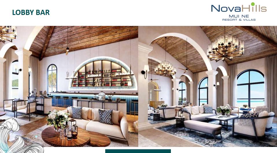 Novahills Mũi Né Resort & Hotels sảnh lobby