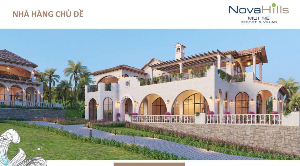 Novahills Mũi Né Resort & Hotels nha hàng chủ đề