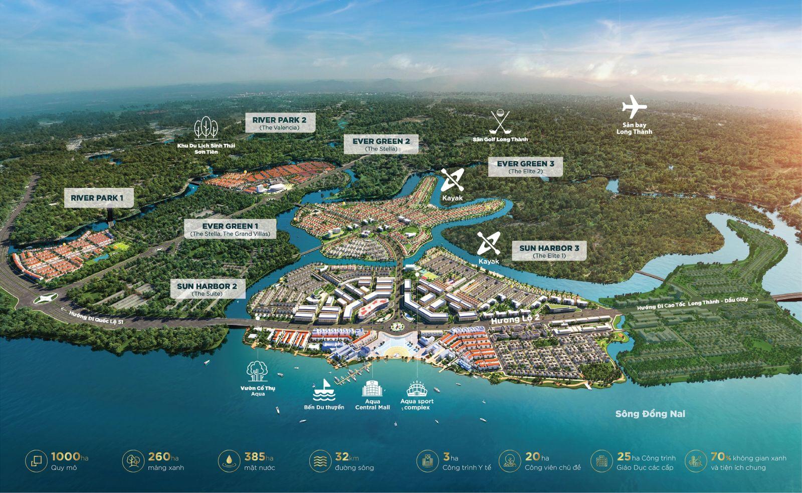 phối cảnh dự án aqua city