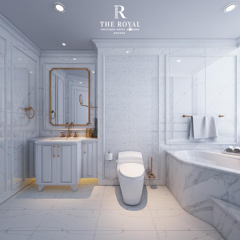 Dự án The Royal Boutique Hotel & Condo Đà Nẵng toilet