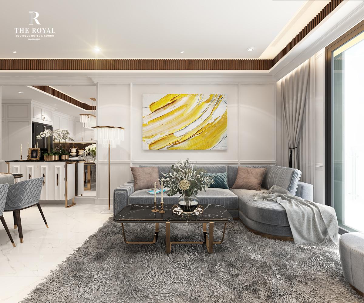 Dự án The Royal Boutique Hotel & Condo Đà Nẵng Phòng khách
