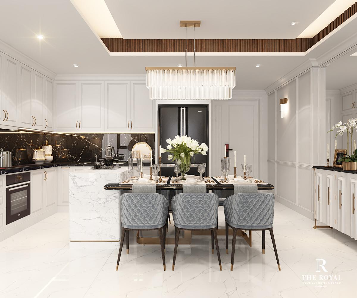 Dự án The Royal Boutique Hotel & Condo Đà Nẵng bếp