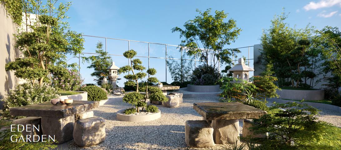 Dự án The Royal Boutique Hotel & Condo Đà Nẵng vườn eden garden