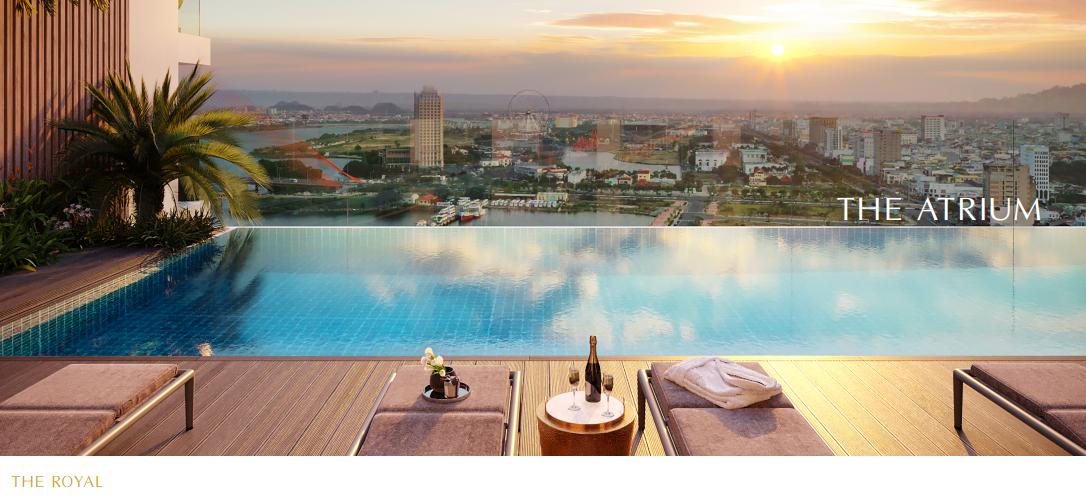 Dự án The Royal Boutique Hotel & Condo Đà Nẵng hồ bơi atrium