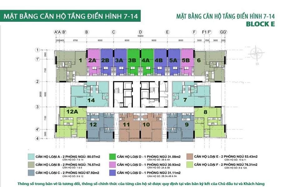 MAT BANG TANG BLOCK E CONG HOA GARDEN